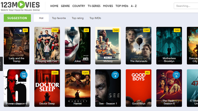 Top Site Like123movies