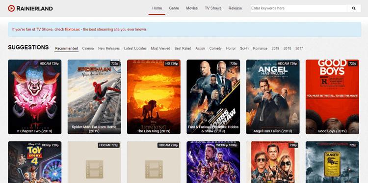 Rainierland – best site for watching movies